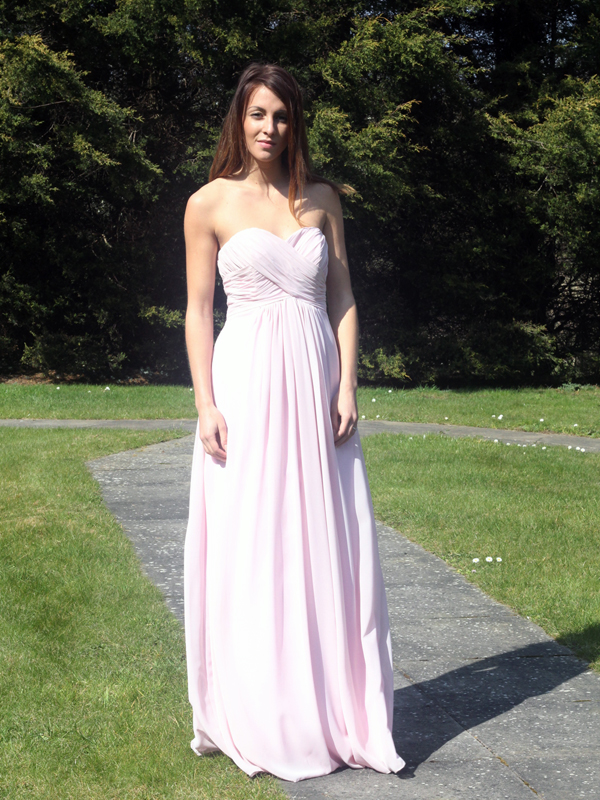 Baby Pink Chiffon Bridesmaid Dress