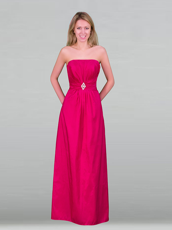 hot pink Bridesmaids Evening Party Prom Dress