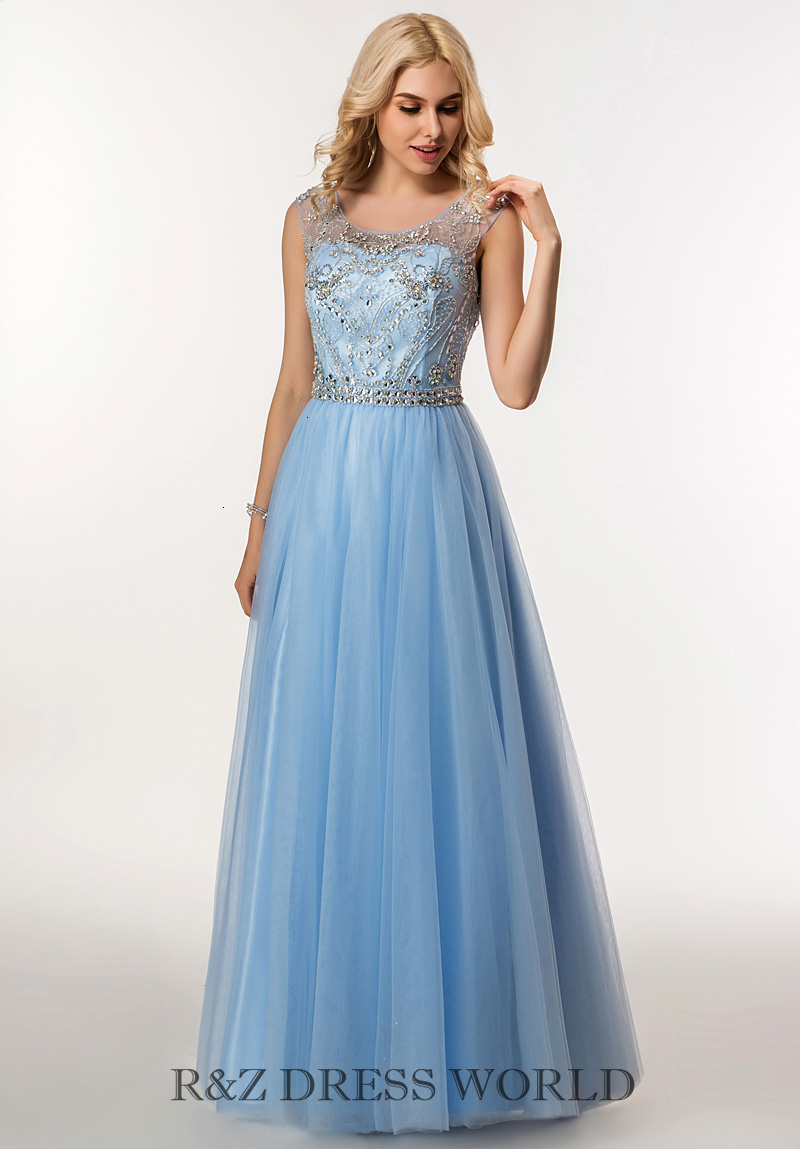 Baby blue prom dress with key hole back